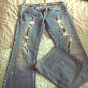 Distressed Guess Jeans